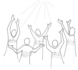 Worship in song is a response of the heart to who God is and what He has done